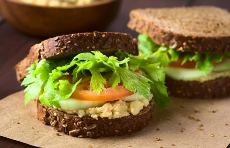 Smashed Chickpea Club Sandwich