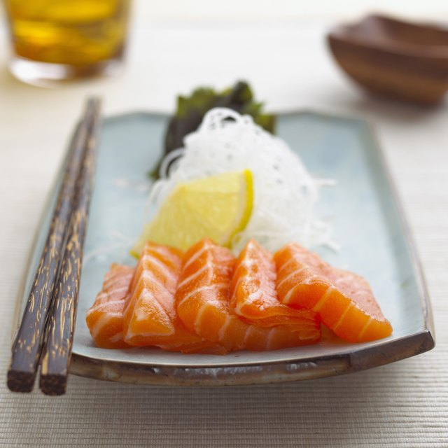 Even better than ordering a roll, choose to order sashimi (thin cuts of high-quality raw fish served on its own, without the rice).