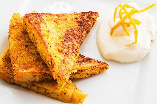 6. Cinnamon French Toast with Yogurt