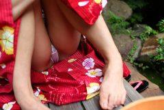 一足お先に夏祭り!パンチラ、透けパン浴衣のなでし娘たちのエロ画像