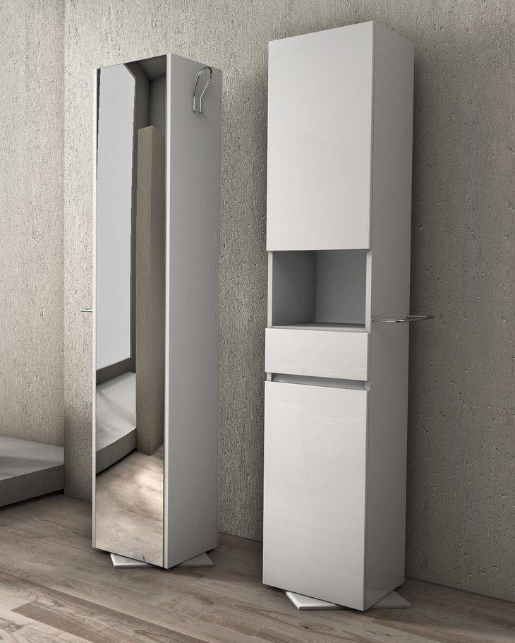 Ikea pensili, e non solo. Colonna Girevole Da Bagno B2 In Pvc Bianca Bh