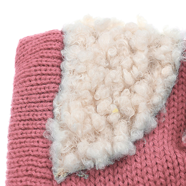Baby Children Dog Shape Wool Cap Hooded Scarf Earflap Hat