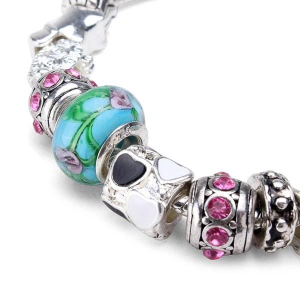 Love Flower Glass Beads Bracelet