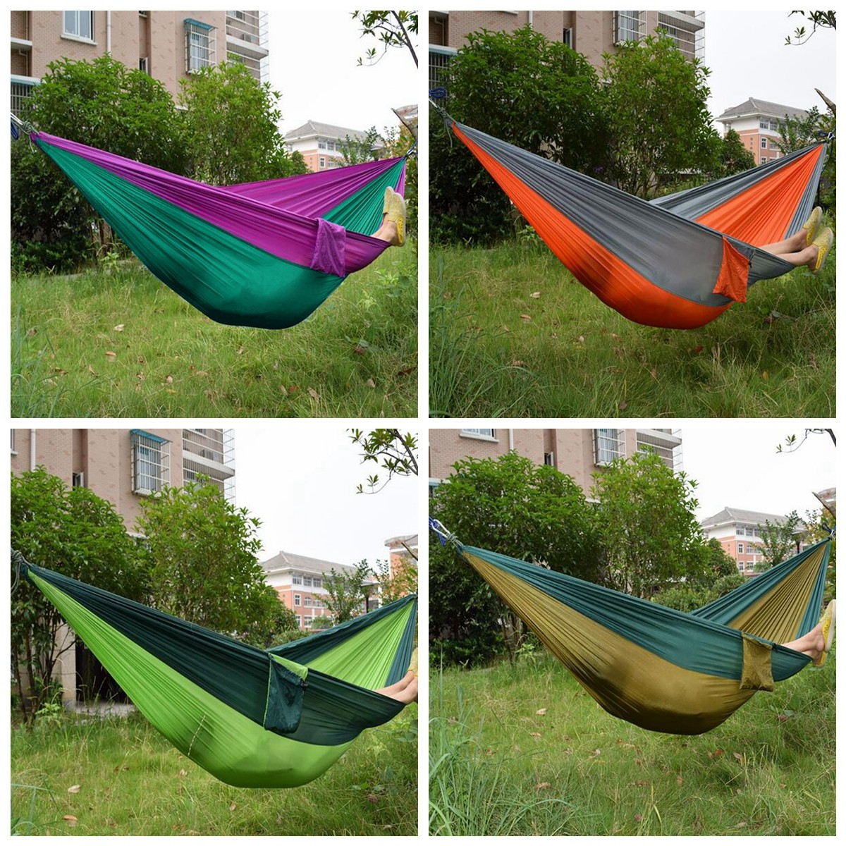 Outdoor Garden Portable Hammock Two Person Double Swing