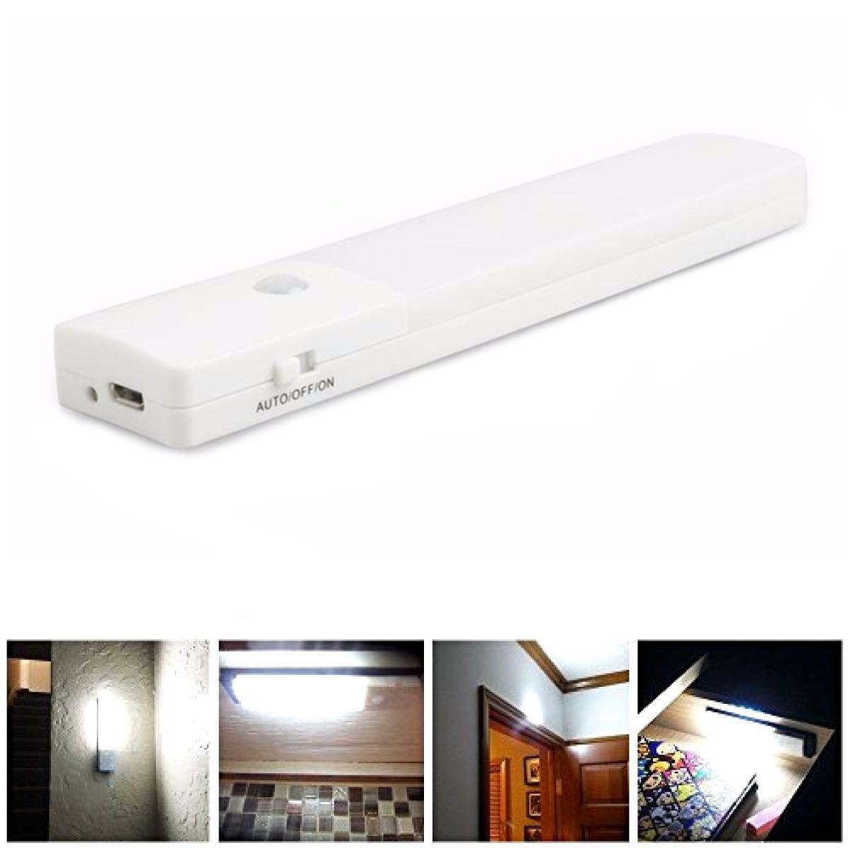 usb rechargeable led under cabinet night light motion sensor kitchen wardrobe closet lamp sale banggood com