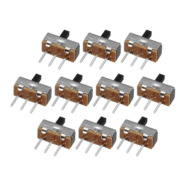 500pcs SS12d00G4 2 Gear 3 Pin Toggle Switch Slide Switch Interruptor On-Off Horizontal Handle Type Handle Length 4mm 18