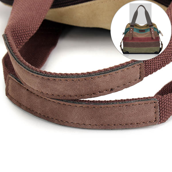 Handle Of Canvas Stripe Bags