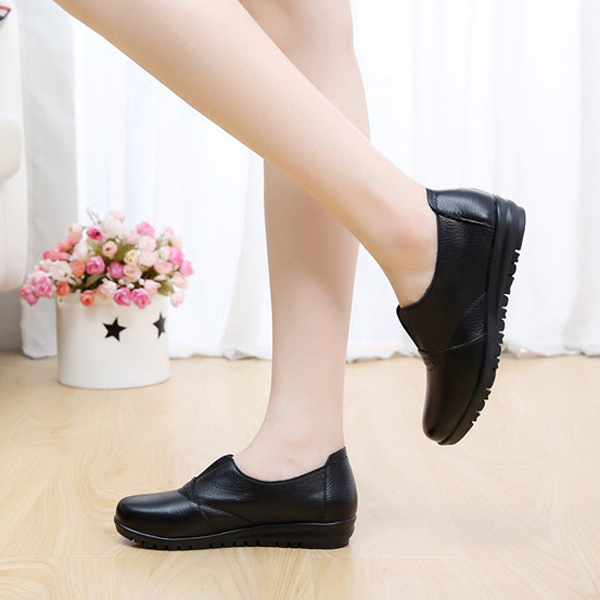 US Size 5-12 Casual Comfy Slip On Soft Sole Round Toe Flat Shoes For Women