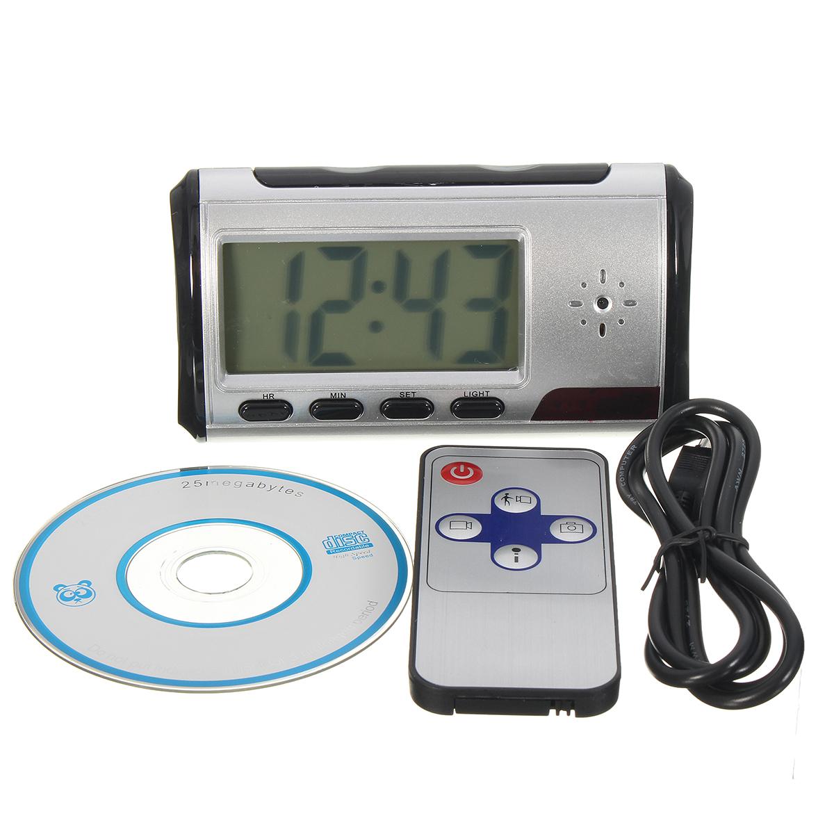 Hidden Camera Alarm Clock Micro Nanny Cam Motion Detection