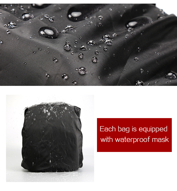 HUWANG 7460 Waterproof Multi-functional DSLR Video Photo Digital Camera Bag Padded Backpack 12