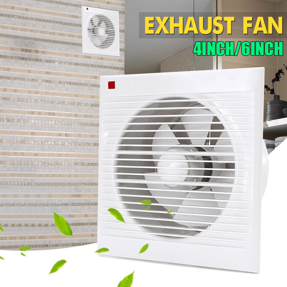 4 6 8 Waterproof Mute Bathroom Extractor Exhaust Fan Window For Kitchen Toilet Ventilation