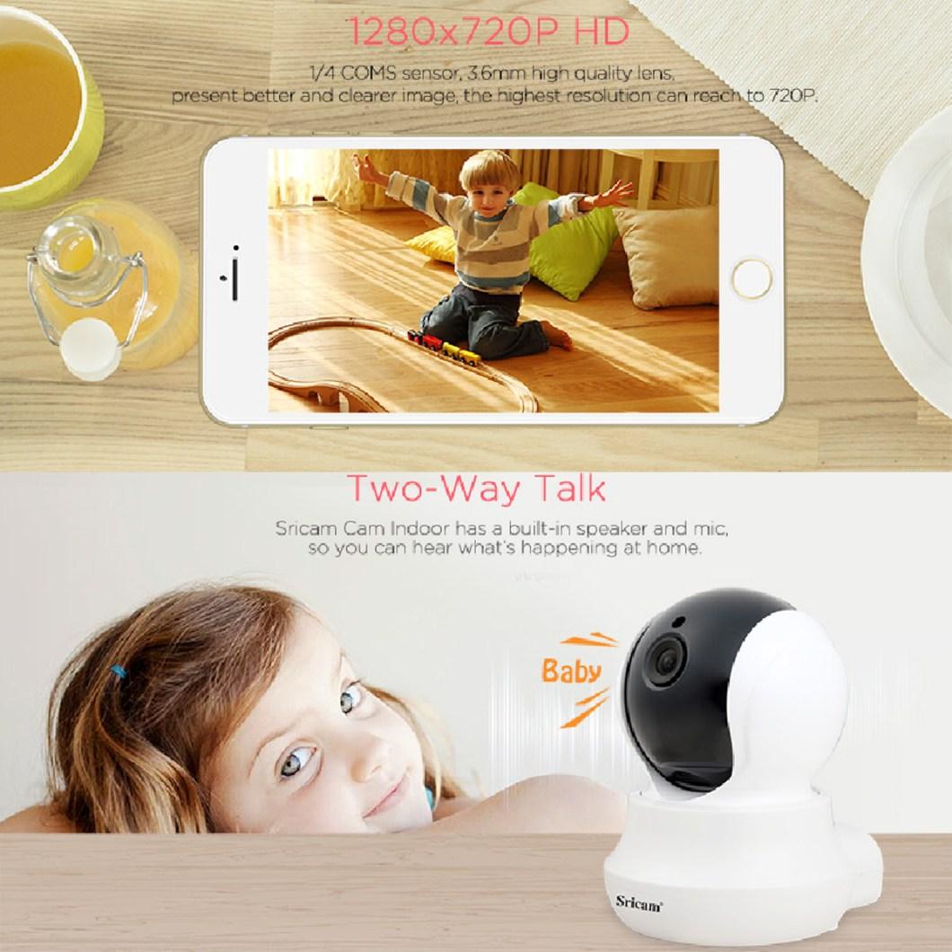 Sricam SP020 Wireless 720P IP Camera Pan&Tilt Home Security PTZ IR Night Vision WiFi Webcam 15