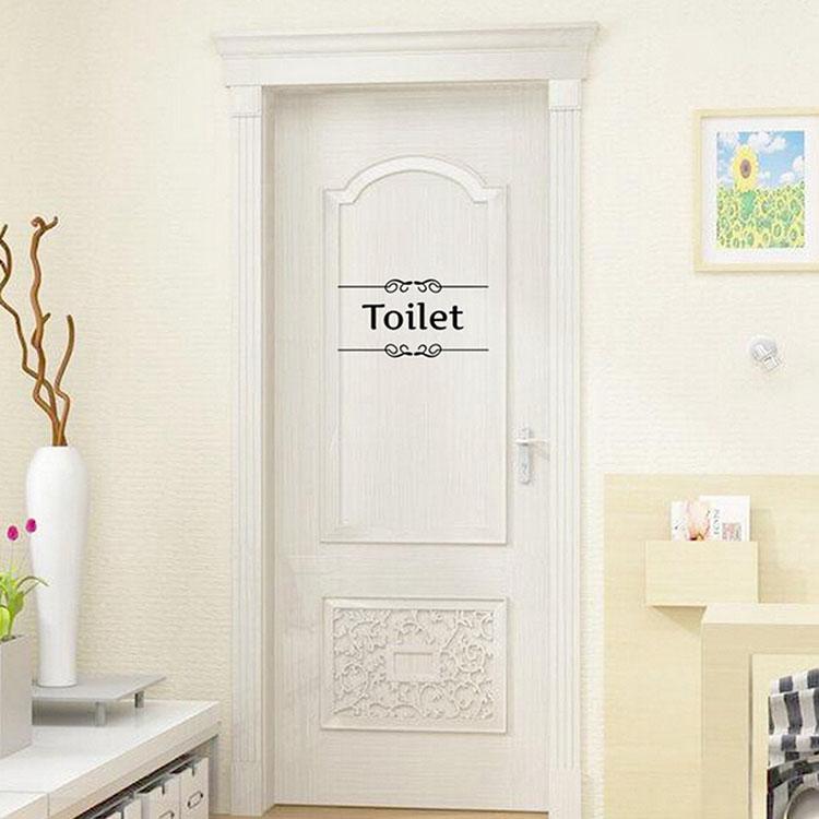 Removable Pvc Bathroom Toilet Wall, Bathroom Door Decals