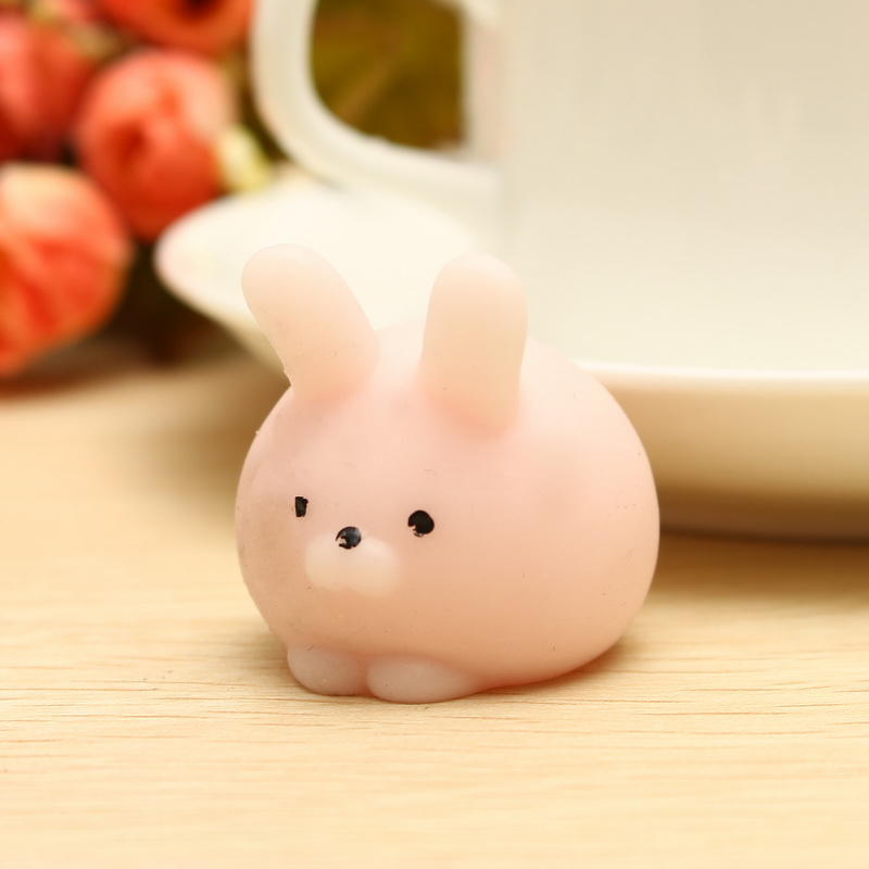 Mochi Pink Bunny Ball Squishy Squeeze Cute Healing Toy