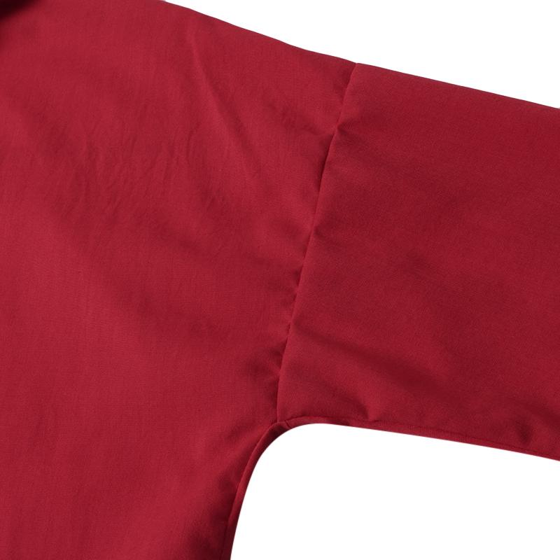 M-5XL Women Button Down Lapel Solid Color Loose Casual Blouses