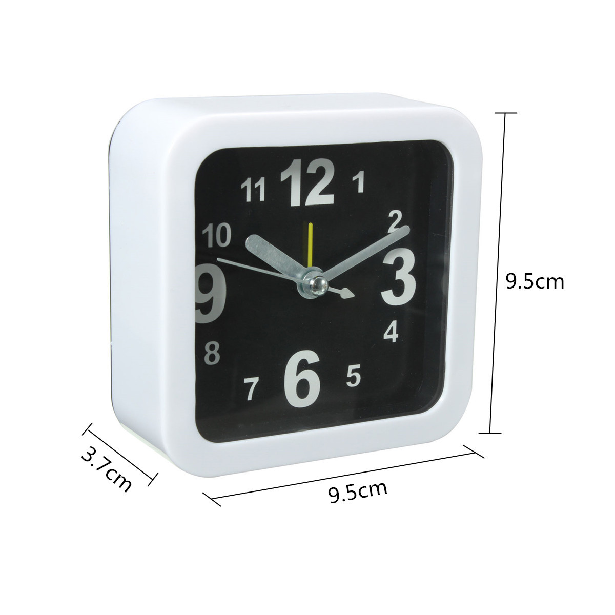 White Mini Travel Alarm Clocks Quartz Alarm Beep Bedside