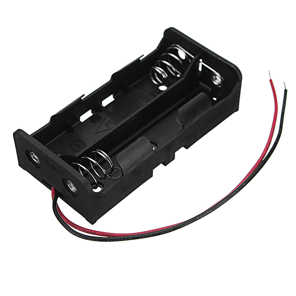 3pcs New Version DC 7.4V 2 Slot Double Series 18650 Battery Holder High Quality Battery Box Battery Case With 2 Leads And Spring CE RoHS Certification 12