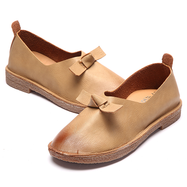 Women Round Toe Casual Shoes Slip On Outdoor Soft Flat Loafer