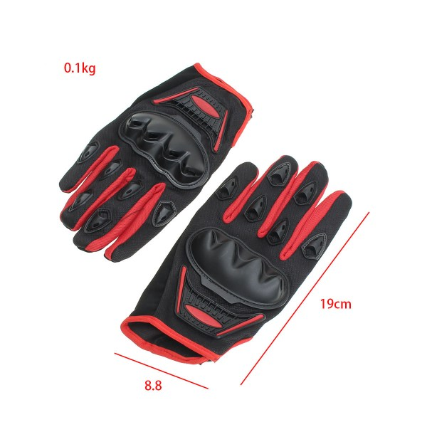 Unisex Polyester Motorcycle Gloves Protection Armor Full ...