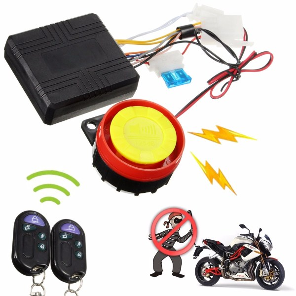 Motorcycle Bike Anti-theft Security Alarm System Remote ...