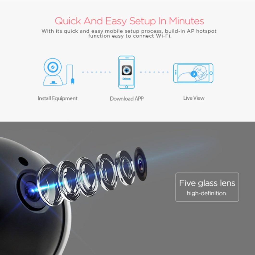 Sricam SP020 Wireless 720P IP Camera Pan&Tilt Home Security PTZ IR Night Vision WiFi Webcam 21