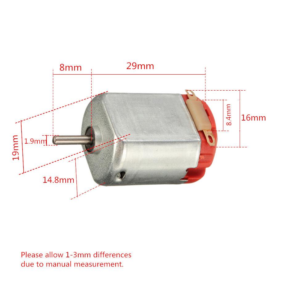 10PCS R130 Motor Type 130 Hobby Micro Motors 8000 RPM 3-6V DC 0.35-0.4A 24