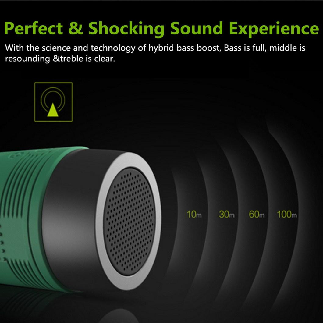 Zealot S1 Wireless Bluetooth Speaker Dustproof Waterproof Flashlight FM Power Bank Multi F 18