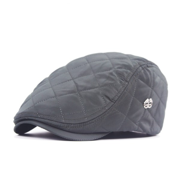 Unisex Windproof Polyester Grid Blank Beret Hat Buckle ...