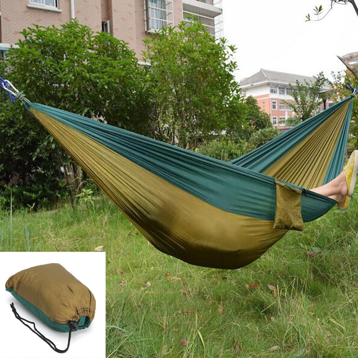 Outdoor Garden Portable Hammock Two Person Double Swing