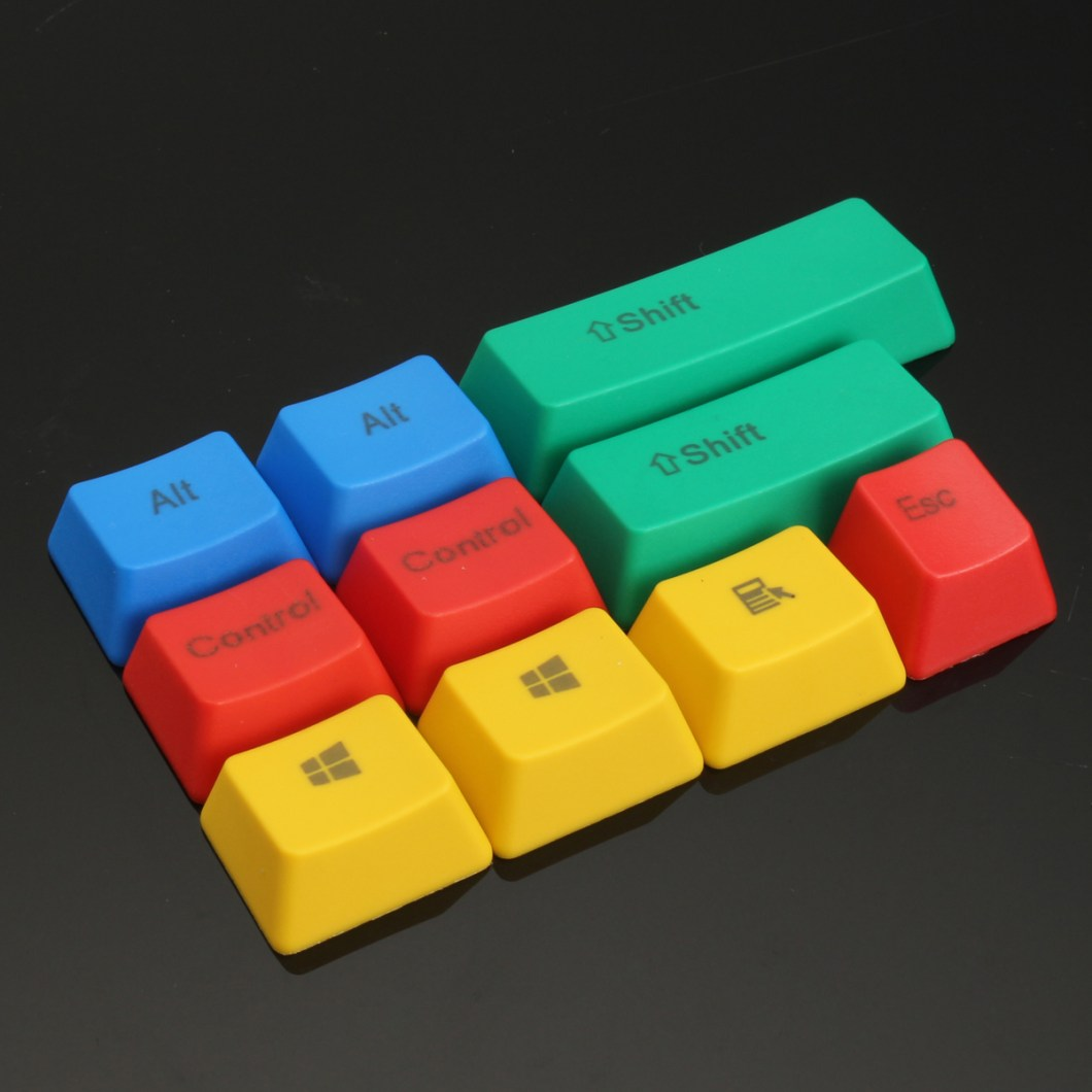 10Pcs RGBY ANSI PBT Thick Keycap Key Caps for Mechanical Gaming Keyboard 7