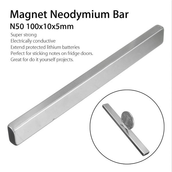 N50 100x10x5mm Block Magnet Rare Earth Neodymium Magnet