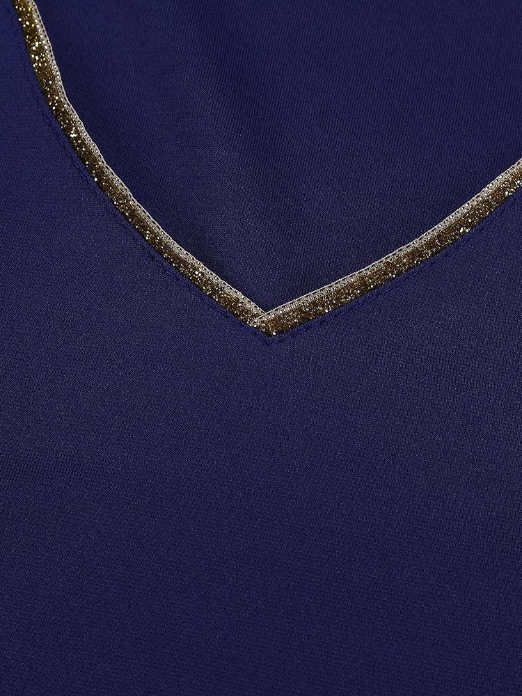 Sexy Slim V Neck Pocket Party Dress