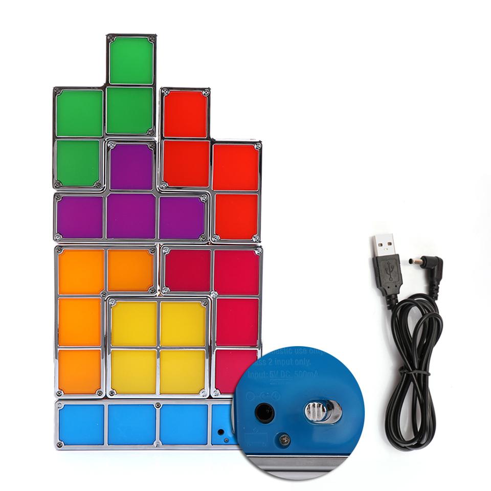 Bricolage Tetris Puzzle Nouveaut LED Veilleuse Empilable
