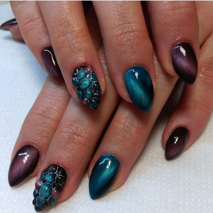24 Colors Cat S Eye Color Changing Nail Art Uv Gel Polish Magic 12ml