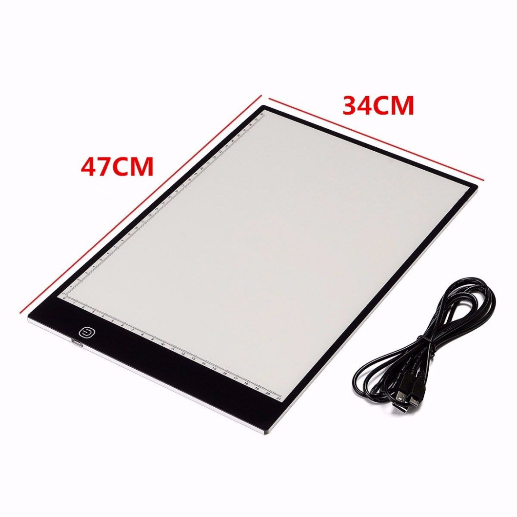 M.Way Ultra Thin A2 A3 LED Copy With USB Cable Adjustable Brightness Drawing Pad Copy board 17