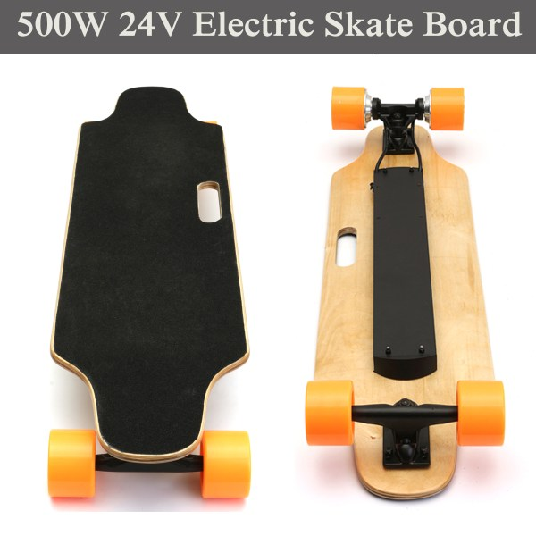 Double Drive 500W 24V Electric Skate Board For Young ...
