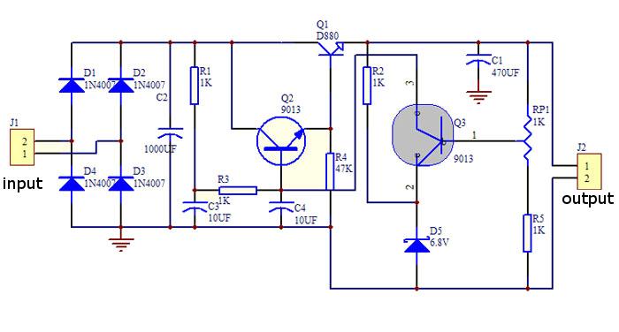 3Pcs DIY D880 Transistor Series Power Supply Regulator Module Board Kit 28