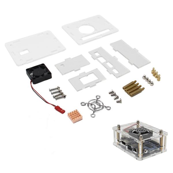 3-in-1 Orange Pi One  512MB H3 Quad-core Development Board + Acrylic Case + Cooling Fan Heat Sink 11