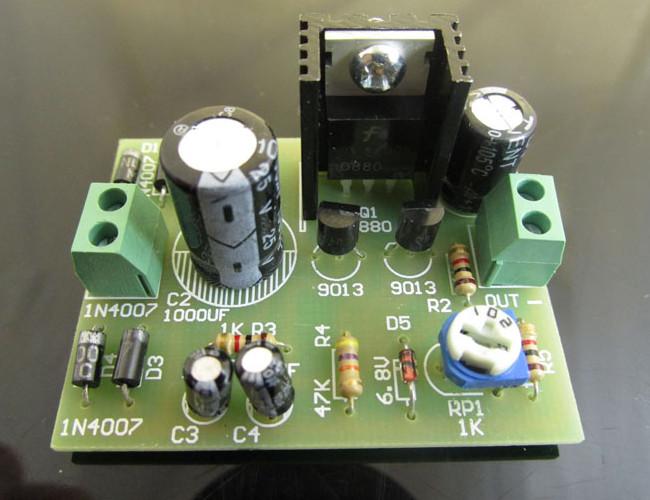 3Pcs DIY D880 Transistor Series Power Supply Regulator Module Board Kit 30