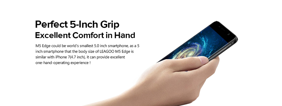 Leagoo M5 Edge 5.0 Inch 13MP Rear Camera 2GB RAM 16GB ROM MT6737 1.3GHz Quad-Core 4G Smartphone