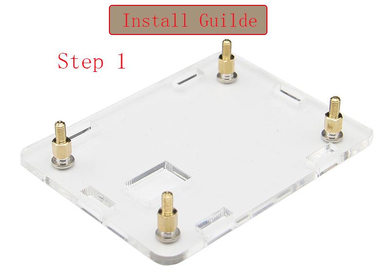 3-in-1 Orange Pi One  512MB H3 Quad-core Development Board + Acrylic Case + Cooling Fan Heat Sink 12