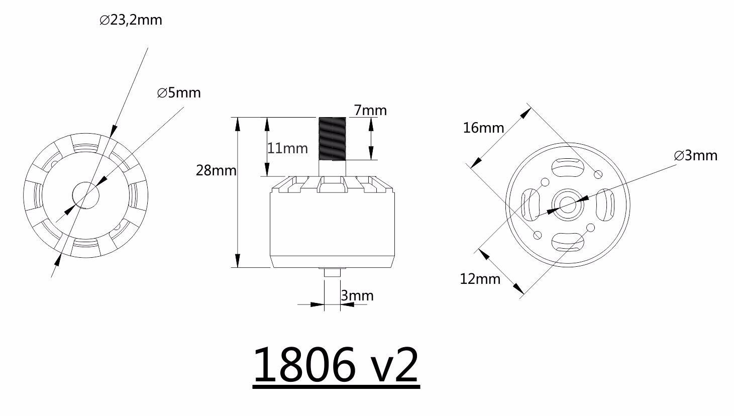 Kingkong V2 2 4s Kv Cw Ccw Brushless Motor For Rc Multirotor