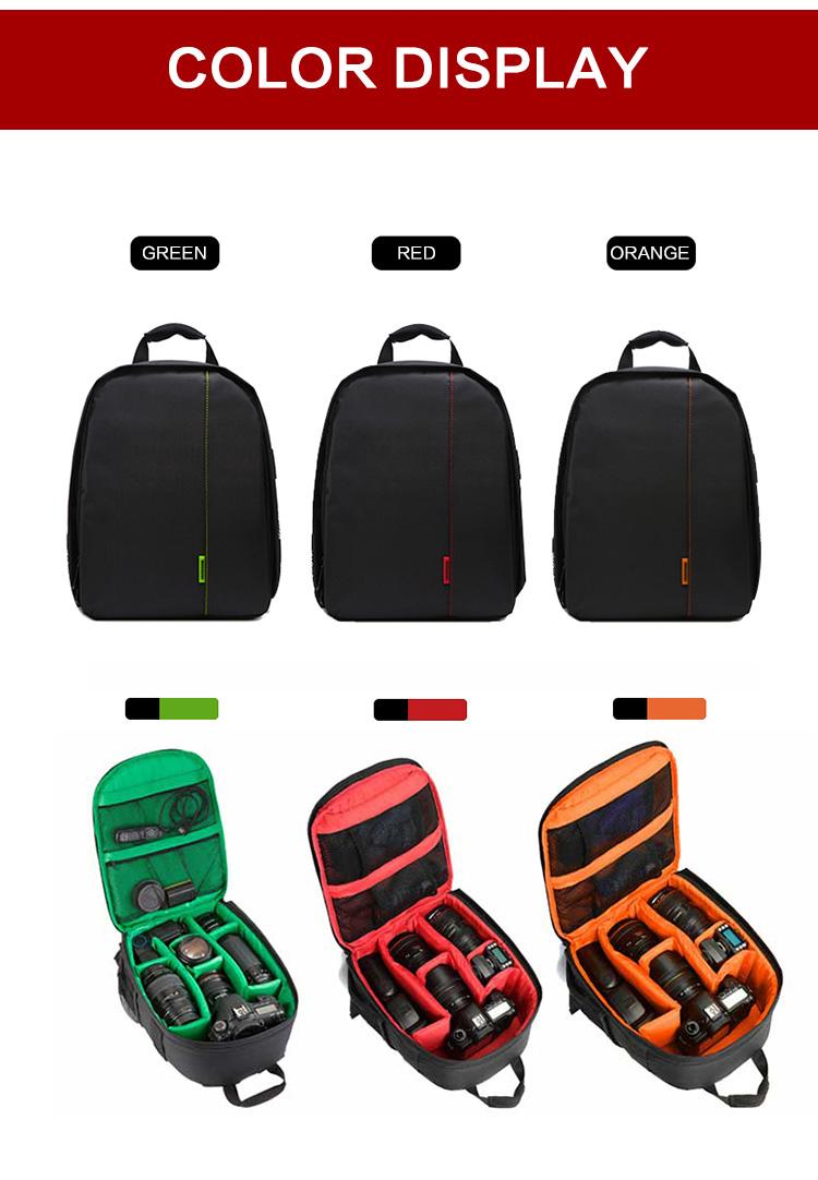HUWANG 7460 Waterproof Multi-functional DSLR Video Photo Digital Camera Bag Padded Backpack 8