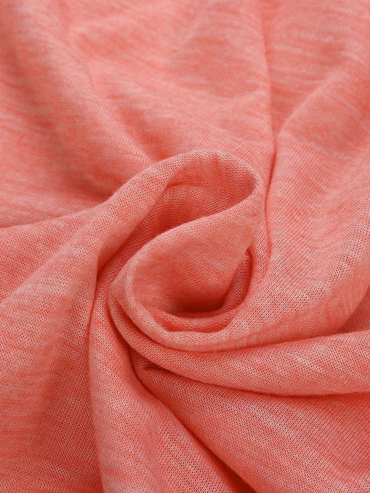 Pocket Solid Long Sleeve Dress Fabric