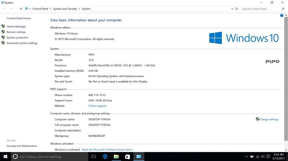 PIPO X12 64GB Intel Cherry Trail Z8350 Quad Core 10 8 Inch Windows 10 TV  Box Tablet