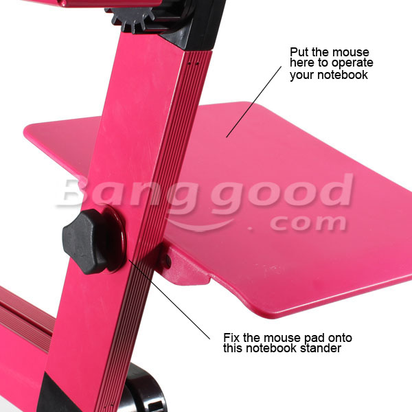 360 Folding Laptop Desk Computer Table 2 Holes Cooling Notebook Table with Mouse Pad Laptop Stand 34