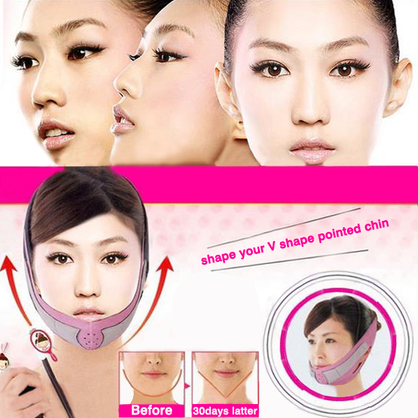 Nylon Face Slimming Belt Face Thining Mask Bandage
