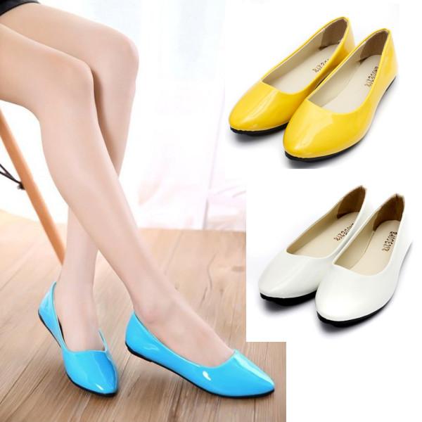 Lady Flat Pumps Ballet Shoes