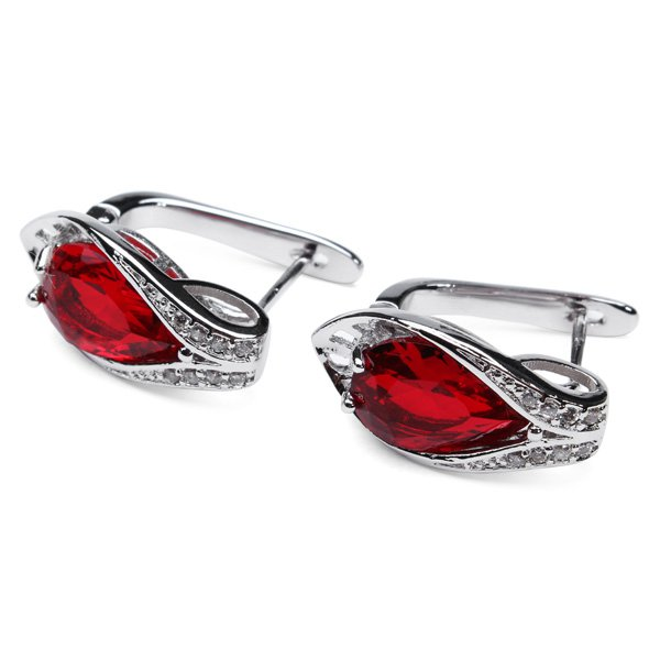 Rhinestone Oval Shape Stud Earrings