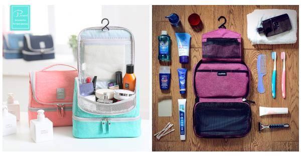 8a50e2bb4c P.travel Waterproof Nylon Multifunctional Wash Bag Travel Hang Cosmetic  Storage Bags